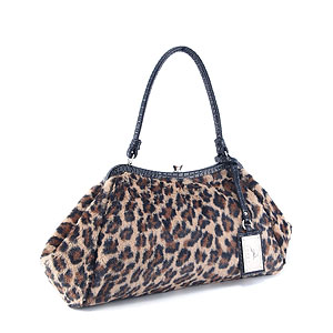 Koret Faux Fur Leopard Handle Bag